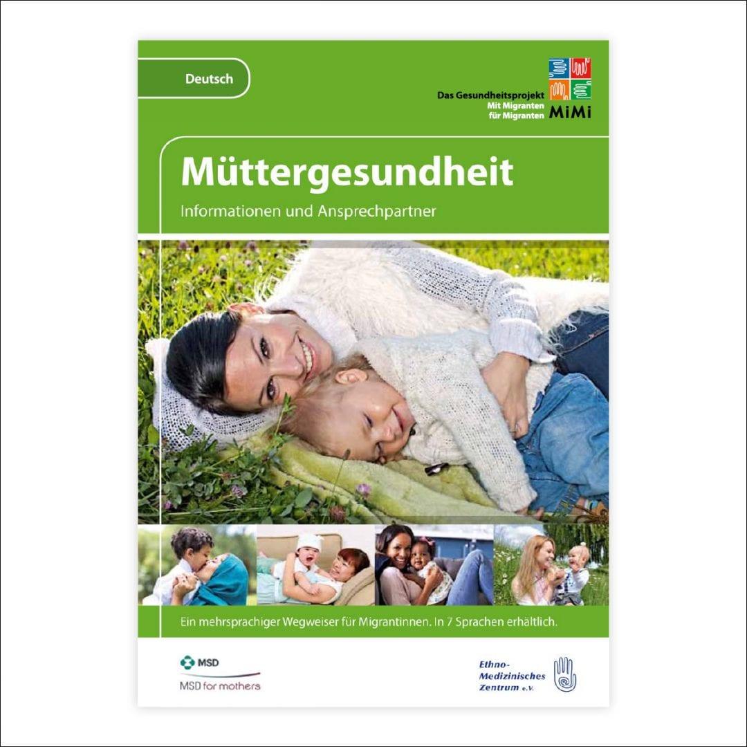 Wegweiser Müttergesundheit in deutscher Sprache