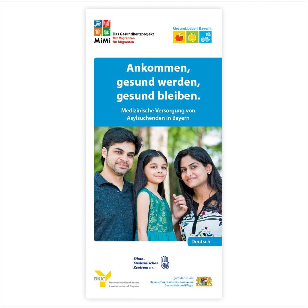 Flyer Gesundheitsvorsorge für Asylsuchende Sprache Deutsch